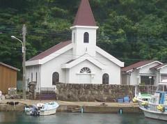 島のシンボルであるカトリック教会