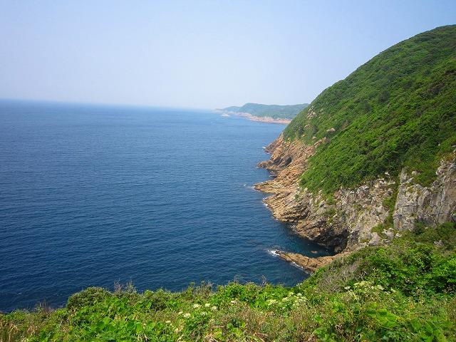 島の裏側からの展望