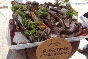 松島で開催された島出身の若手シェフによるレストラン「リストランテマツシマ」で使われた島の食材